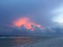 Sunset in progress.